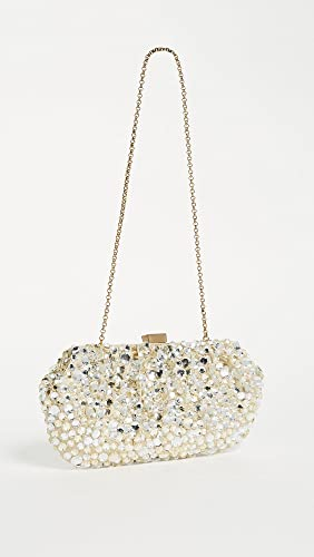 cfa60c3d54b13 Santi Women's Gold and Silver Jeweled Clutch, Beige, One Size: Handbags:  Amazon.com
