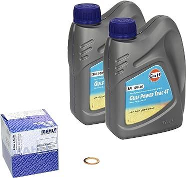 Gulf Power Trac 10w 40 Ölwechsel Set Suzuki Intruder 125 Vl 125 Bj 00 08 Motoröl Mahle Ölfilter Und Dichtring Auto