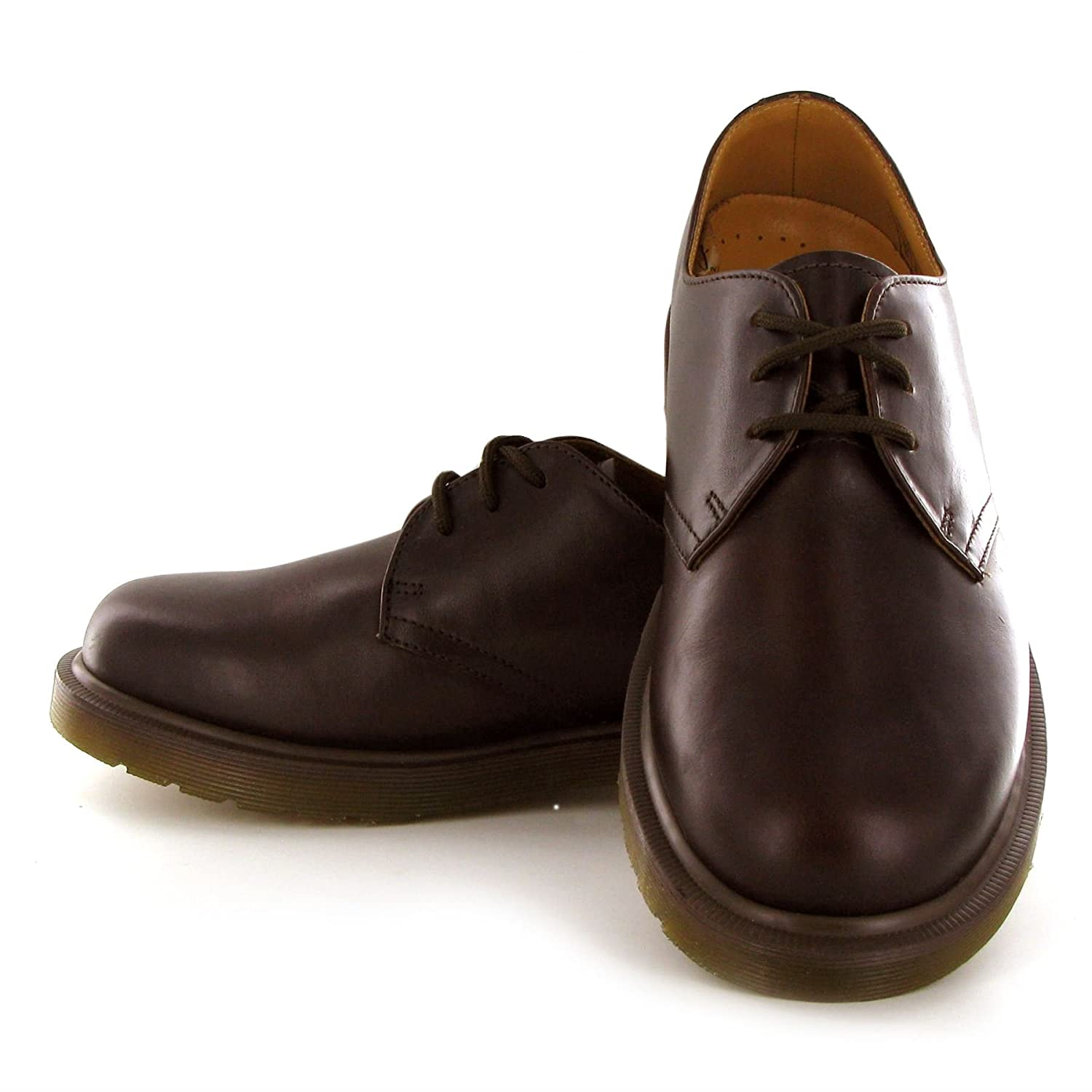 Amazon.com | Dr.Martens PW Dark Brown Leather Mens Shoes Size 7 UK | Boots