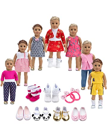 Howona 18 inch Doll Clothes Gift Girls - Include 7 Set Toys Doll Outfits + 2 c9f8c42e5e9d