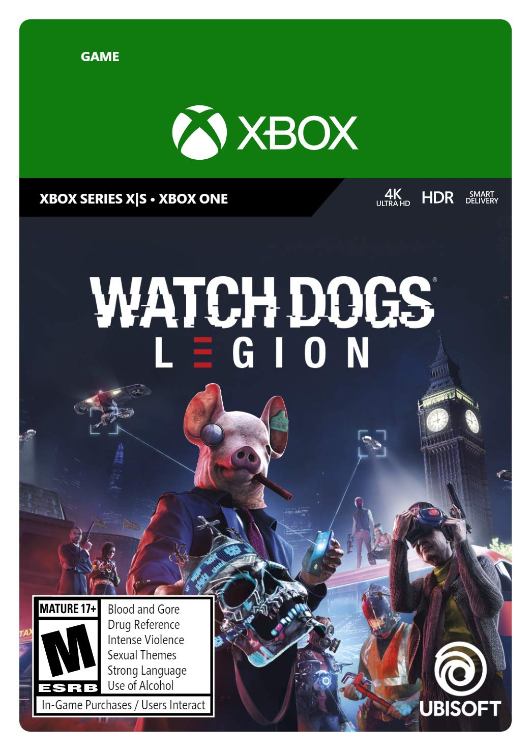 Watch Dogs: Legion Xbox Series X|S, Xbox One Standard Edition [Digital Code]