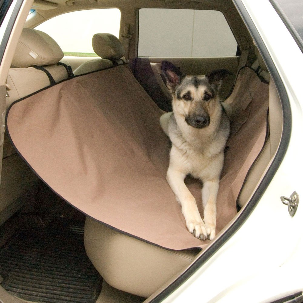 K&H Pet Products Car Seat Saver Tan Pet Seat Cover Predector