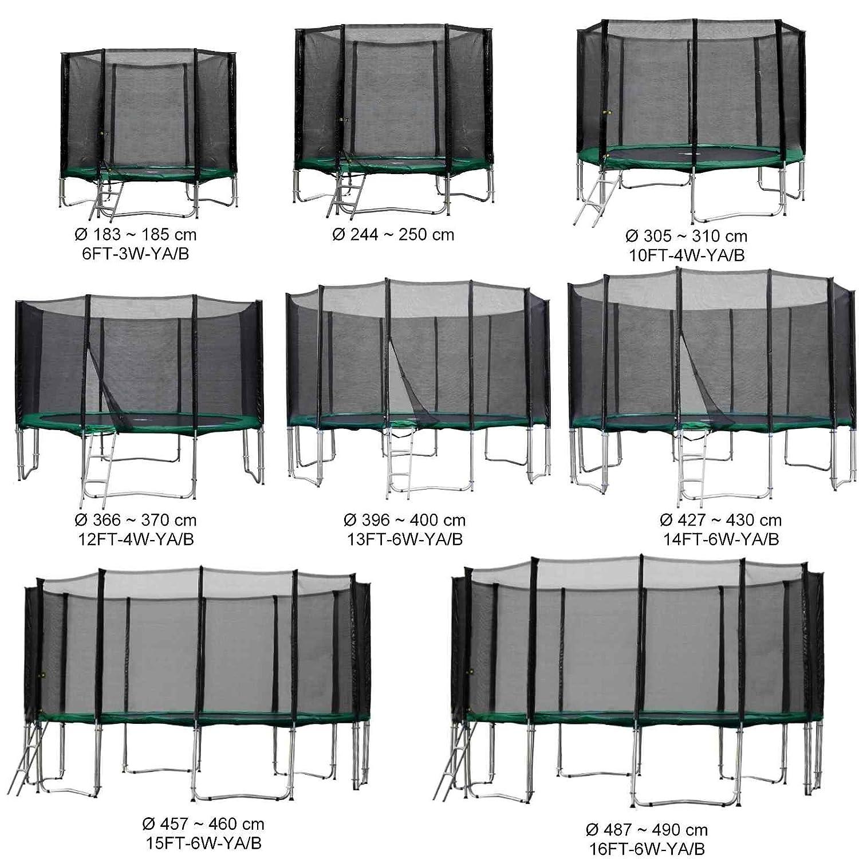 Gartentrampolin Kindertrampolin Trampolin in vielen Größen und Farben komplettes Set mit Sicherheitsnetz und Einstiegsleiter