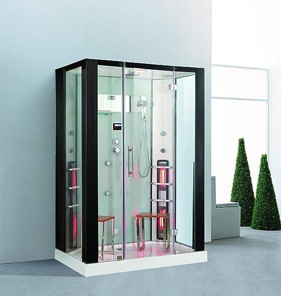Trade-Line-Partner - Ducha de vapor (145 x 90 cm, con sauna infrarroja): Amazon.es: Hogar