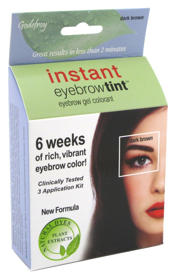 (3 Pack) GODEFROY Instant Eyebrow Tint - Dark Brown