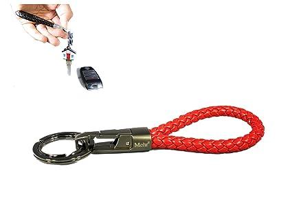 Mehr Braided Leather Valet Key chain for BMW Mercedes Lexus Audi VW Honda  Toyota Detachable Keychains 8cbd92c281bc