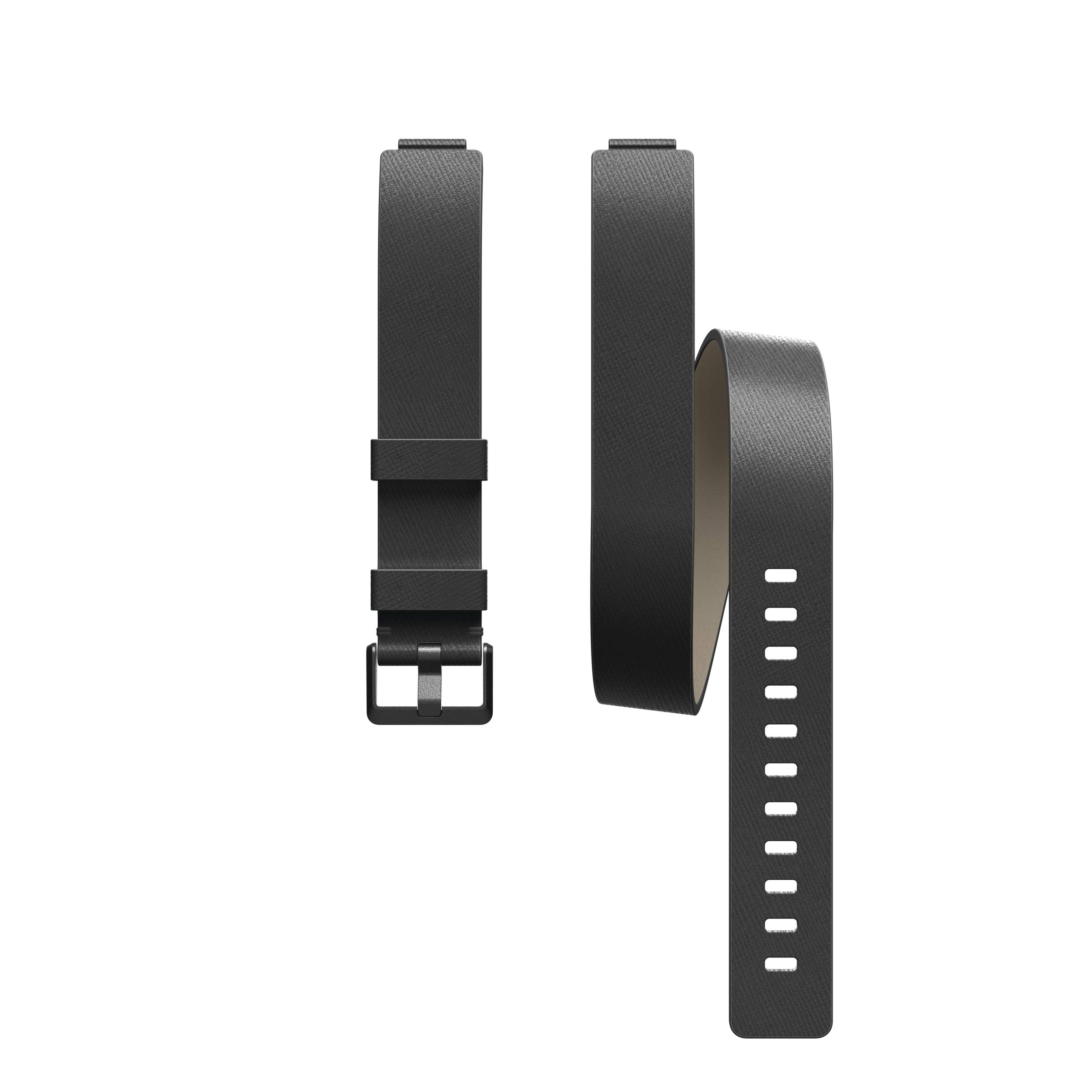 Fitbit Inspire HR & Inspire Accessory Band, Horween Leather Double Wrap, Official Fitbit Product, Black, One Size by Fitbit