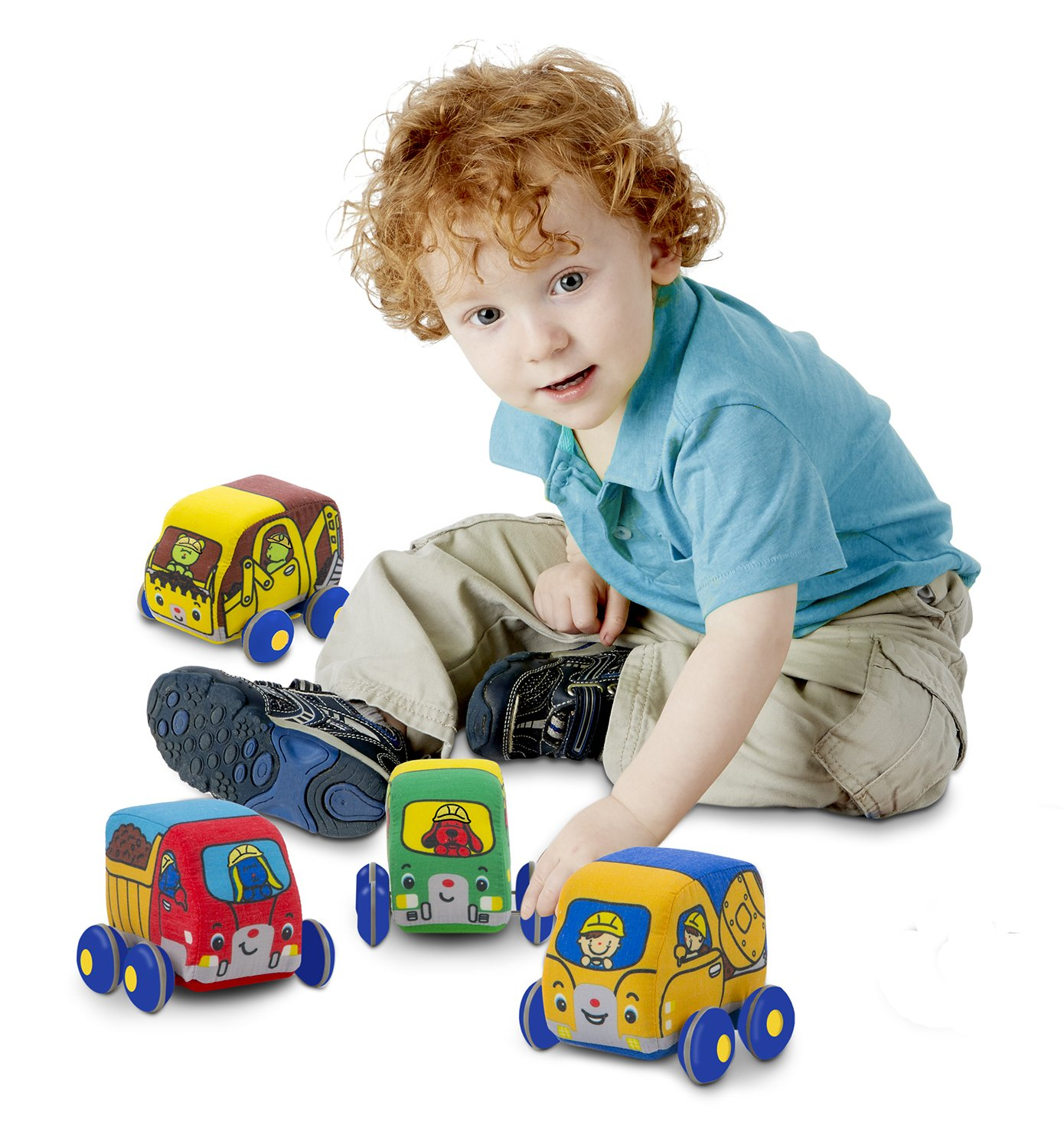 Amazon Melissa & Doug Pull Back Construction Vehicles Soft