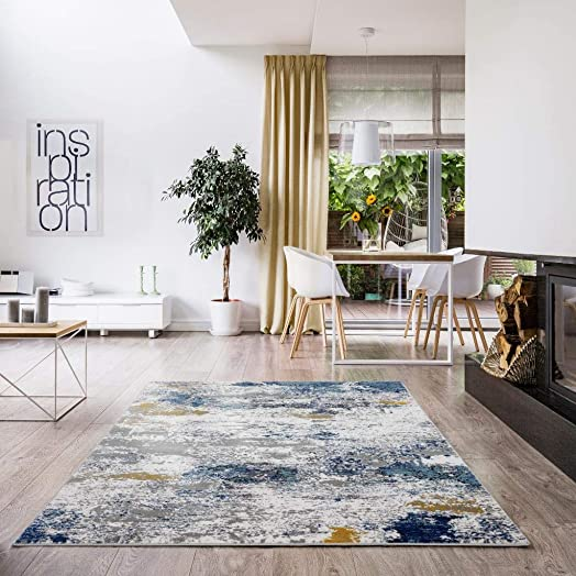 Luxe Weavers Victoria Abstract Multi 9x12 Area Rug 9146