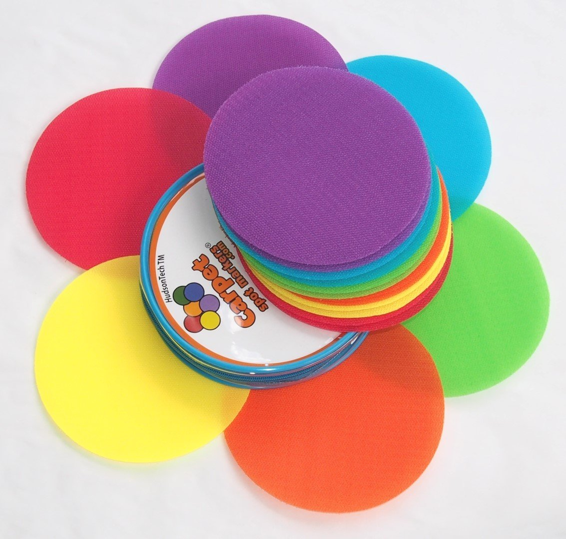 Carpet Spot Sit Markers x 12 Classroom Circles for Teachers Carpet Spot Markers
