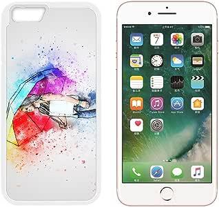 Amazon.com: Para Apple iPhone 6 6S 7 Plus Case Girl Paraguas ...