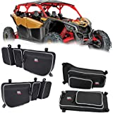 Kemimoto X3 Front and Rear Upper Door Bags compatible with 2017 2018 2019 2020 2021 Can Am Maverick X3 Max XRS XDS Turbo RR w