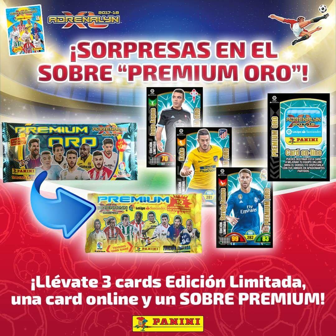 ADRENALYN 2017/2018 1 SOBRE PREMIUM ORO TOP!!: Amazon.es: Juguetes ...