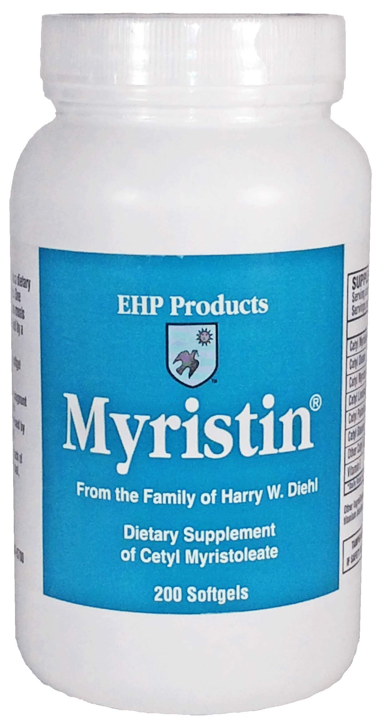 EHP Products Myristin® Cetyl Myristoleate CMO Softgels (200 Count) - Highest Concentration of Cetyl Myristoleate (260 mg per softgel)
