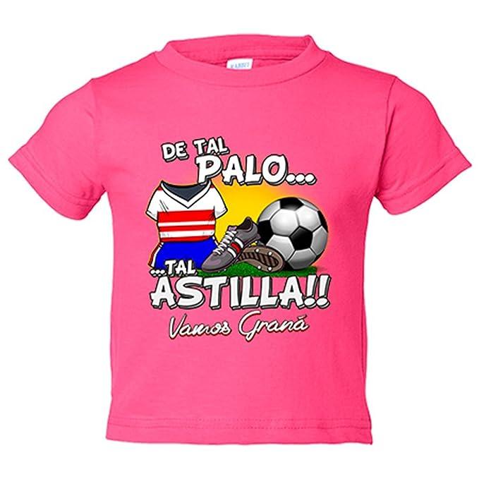 Camiseta niño De tal palo tal astilla Granada fútbol - Amarillo, 3-4 años: Amazon.es: Bebé