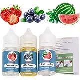 E-liquid Rainlax 3 X 30ml New Mix Flavour Früchte Liquids für E-Zigarette – Blaubeere, Erdbeere, Wassermelone,VG/PG 50/50 (0,0 mg Nikotin) (3X 30ml E-liquid Früchte Set)