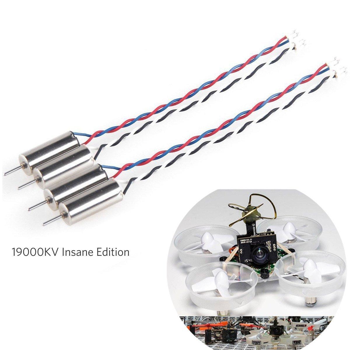 4pcs 6x15mm Motor (Geschwindigkeit: Wahnsinnig) 19000KV fü r Blade Inductrix Tiny Whoop Micro JST 1.25 Stecker mit Gummi Ringe Fancywhoop