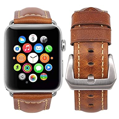 Apple Watch Banda + bandas de reloj inteligente 38 mm/42 mm Retro Piel +