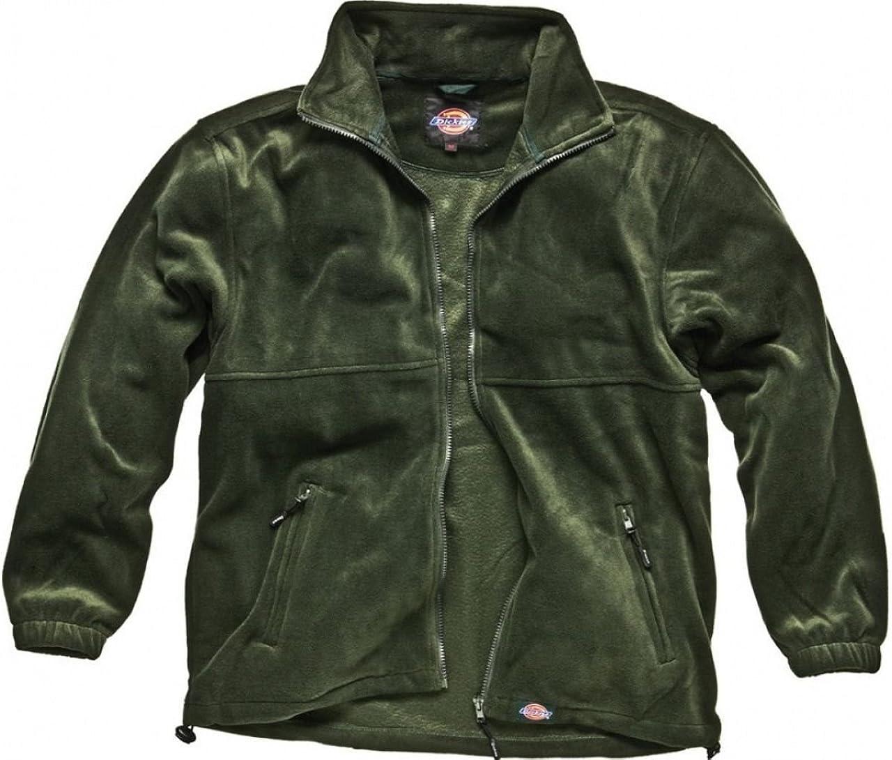 Sizes S-XXXL Men/'s Jacket Dickies Oakfield Work Fleece Black