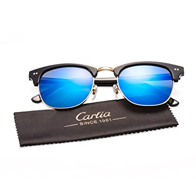 f9346593baa Carfia CA5109 Semi Rimless Non-Polarized Sunglasses for Women Men ...