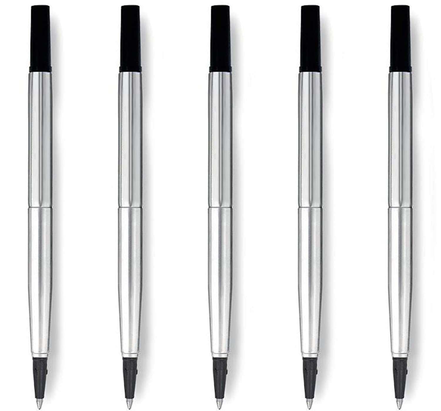 5X Blue Parker Quink Rollerball Pen Refills Medium - Compatible OfficeCentre