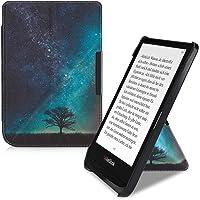 kwmobile hoes compatibel met Pocketbook Touch Lux 4/Lux 5/Touch HD 3/Color (2020) - Hoesje voor ereader in blauw/grijs…