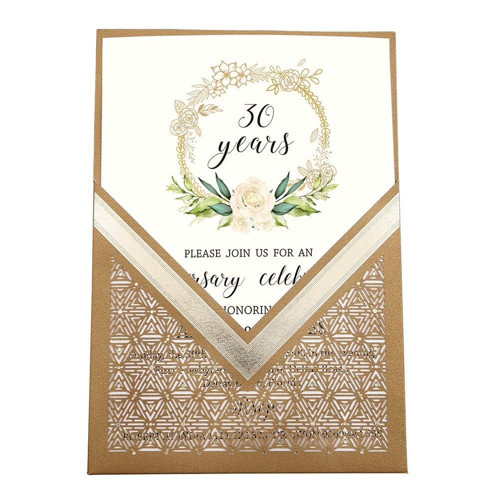Engagement Bridal Shower Evening Reception Birthday and Christmas Party CW0009 Burgundy Dream Planner 1pc 5 x 7.2 inch Laser Cut Flora Wedding Invitation Cards with Envelopes for Marriage