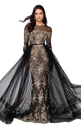 pretty nice c98d6 5e064 Terani Couture - 1913E9258 Encaje Illusion Jewel Vestido con ...