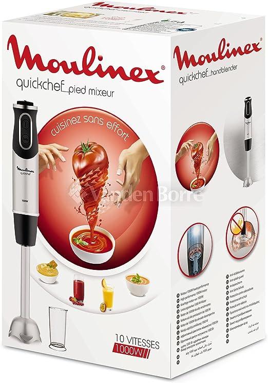 Batidora de mano - Moulinex DD65A810, 1000W, 10 velocidades: Amazon.es