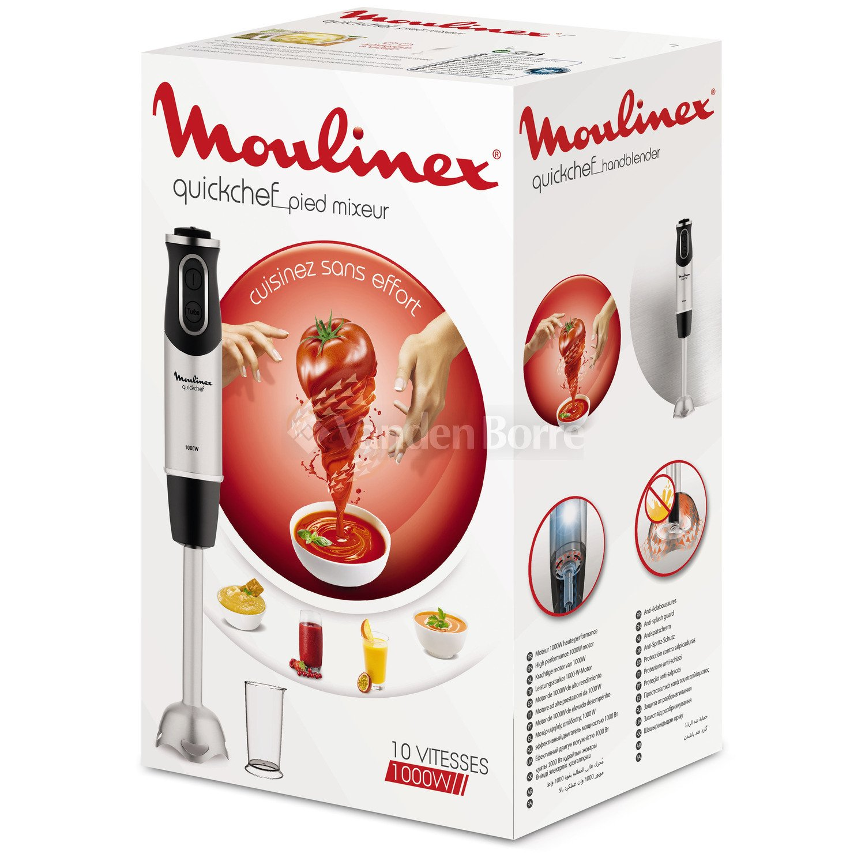 Batidora de mano - Moulinex DD65A810, 1000W, 10 velocidades ...