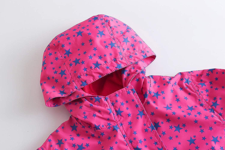 YoungSoul Kinder Gef/ütterte Regenjacke /Übergangsjacke mit Kapuze