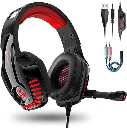 Cascos PS4 / PC / Xbox One,Auriculares Gaming Stereo con Micrófono ...