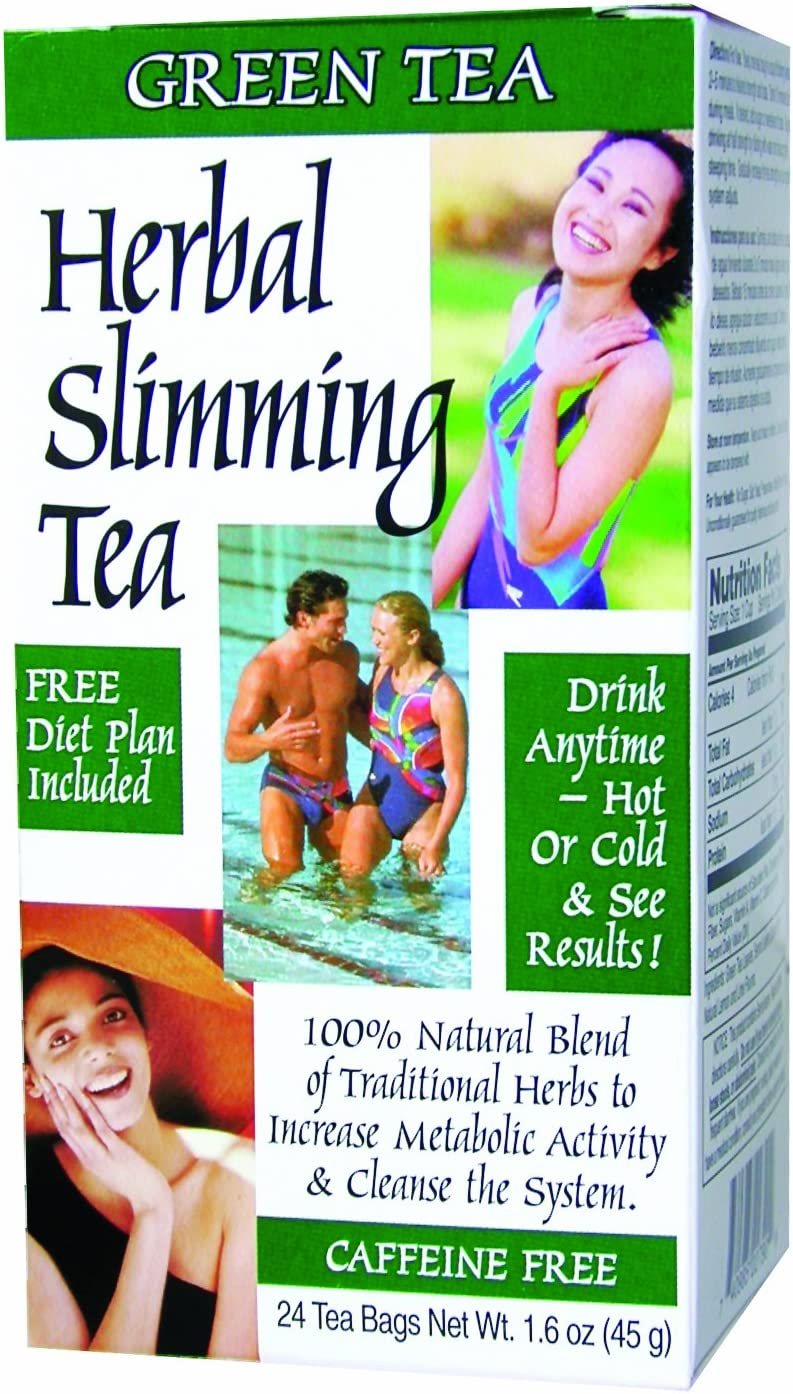 21st Century Slimming Tea, Green Tea, 24 Count Pack of 6