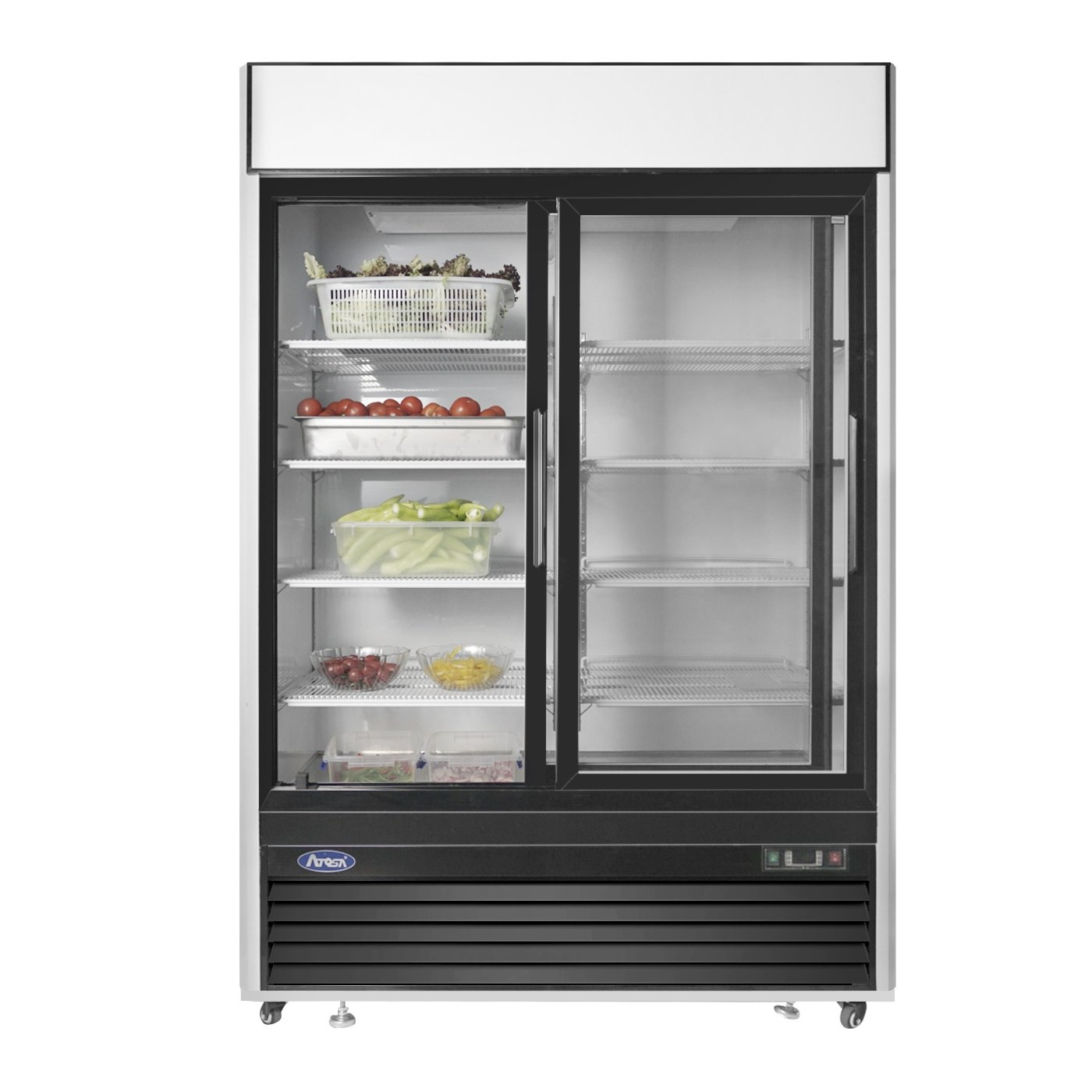 Amazoncom Commercial Refrigerator,Atosa Mcf8709 Double 2 Sliding Door Showcase Glass