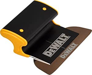 DEWALT Drywall Skimming Blade, 7-Inches | Pro-Grade | Extruded Aluminum & European Stainless Steel Construction | High-Impact End Caps | Sheetrock Gyprock Wall-Board Plasterboard | DXTT-2-907