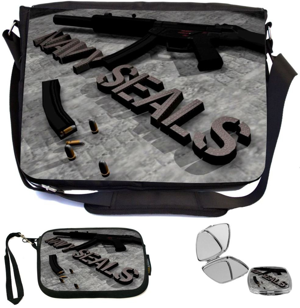 high-quality Rikki Knight Navy Seals Design COMBO Multifunction Messenger  Laptop Bag - with padded 49523ff6fc