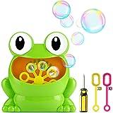 Fansteck Seifenblasen Maschine für Kinder, Mini Tragbare Bubble Machine als Frosch Figur, Kinder Garten Spielzeug Outdoor Toys, Ideal für Party, Grillfeste und Hochzeiteh, usw. …