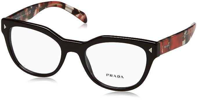 bb24f8fd31 Prada PR21SV Eyeglass Frames DHO1O1-51 - Brown PR21SV-DHO1O1-51 at ...