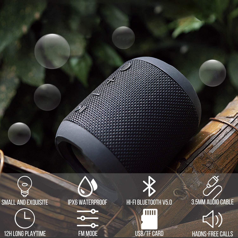 20W Driver Altoparlante Bluetooth Senza Fili Altoparlante Portatile Bluetooth 5.0 Microfono Incorporato Supporto Radio FM AUX TWS 360/° HD Stereo Impermeabile IPX6 TF 16 Ore Di Riproduzione