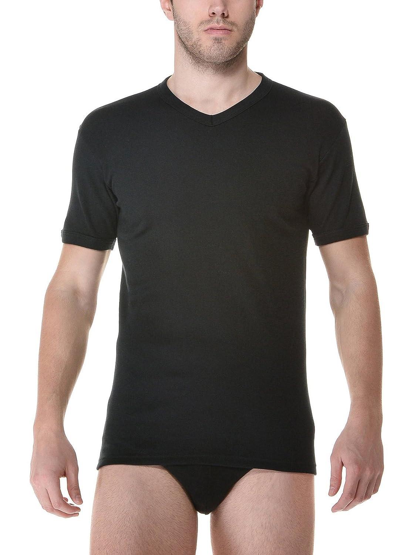 Ever set 2 pezzi Maglietta cotone invernale scollo a V 750, intimo uomo, underwear