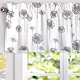 DriftAway Dandelion Floral Botanical Lined Thermal Insulated Window Curtain Valance Rod Pocket 52 Inch by 18 Inch Plus 2…