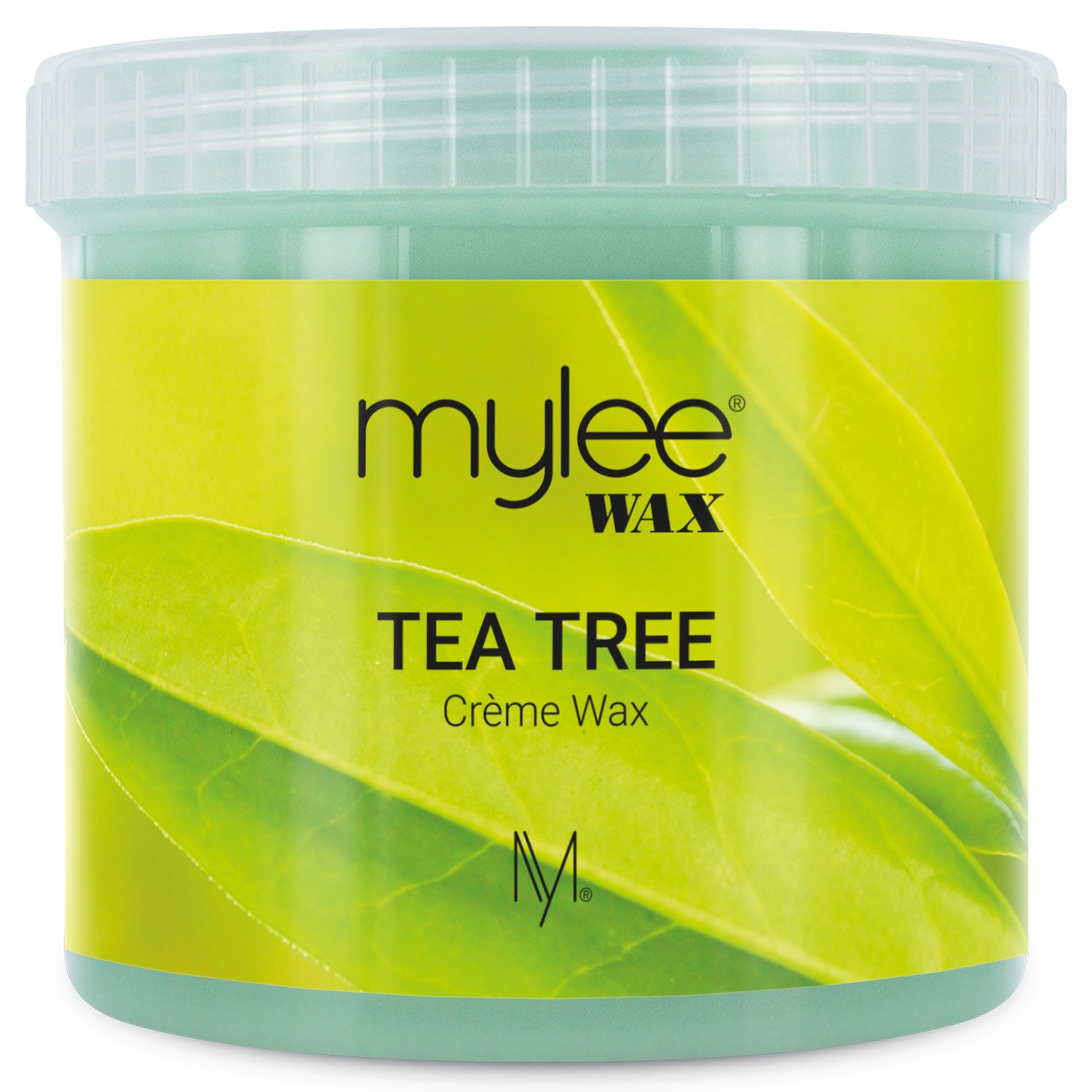 Mylee Tea Tree Soft Creme Wax for Sensitive Skin 425g, Microwavable & Wax Heater Friendly, Ideal for All Body Area Stubborn Coarse Hair Removal