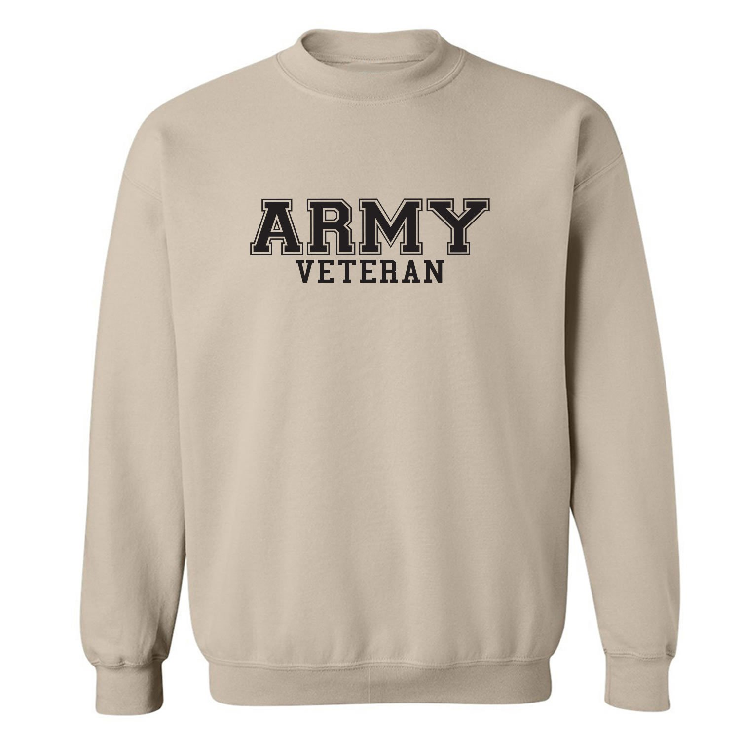 dc910a071 Amazon.com  Army Veteran Military Style Crewneck Sweatshirt in Sand   Clothing