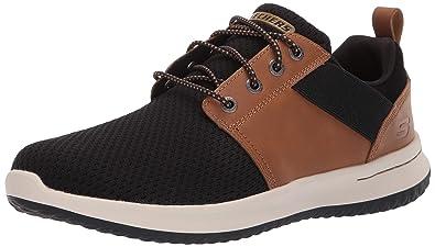 skechers brown & noir delson brant trainers