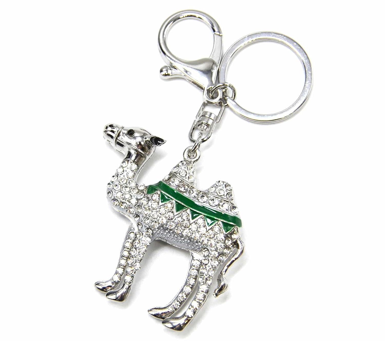 pt1666e - Llavero/joya de Bolsa - camello brillantes Metal ...