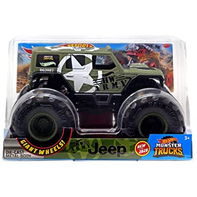 Hot Wheels Monster Trucks Jeep 1:24: Toys & Games