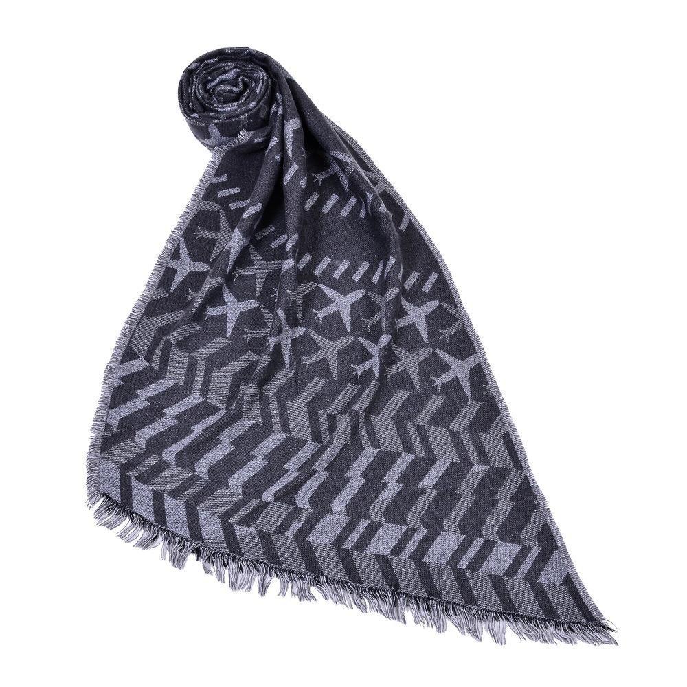Muffler invernali del cachemire delle sciarpe di modo delle donne sciarpa black Woman Poncho-047