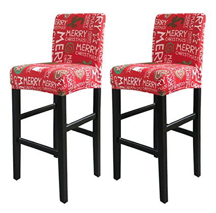 Marvelous Deisy Dee Stretch Slipcovers Chair Cover For Counter Height Side Chairs Covers Stretch Protectors Pack Of 2 C172 W Gmtry Best Dining Table And Chair Ideas Images Gmtryco