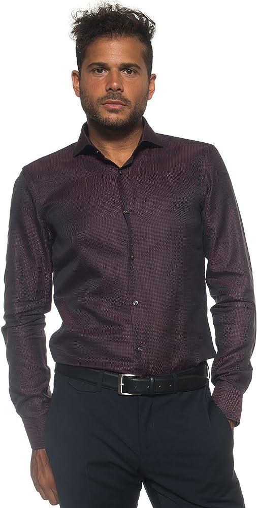 BOSS Camisa Jason 50322393 Hombre burdeos 41: Amazon.es: Ropa y accesorios