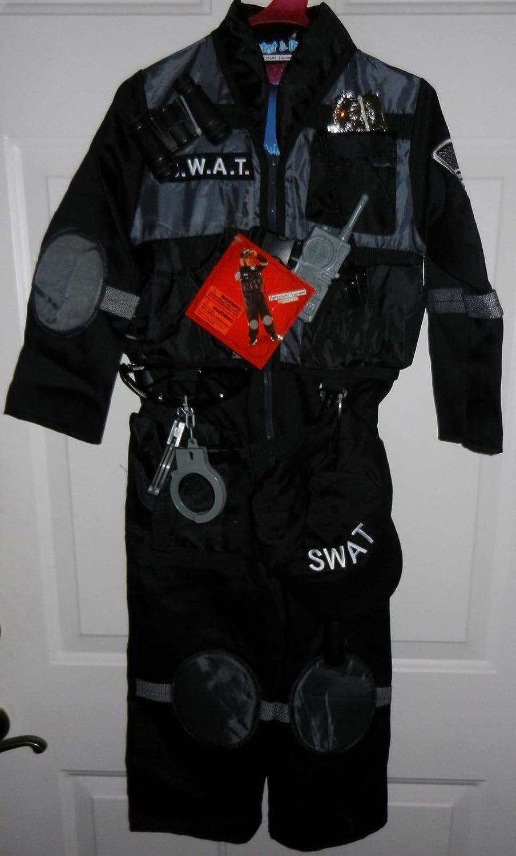 amazon com costume teetot complete police swat cop hat size 3 4
